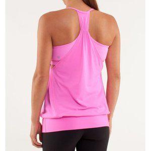 lululemon athletica Tops - Lulu No Limits Tank Pow Pink Hot Cut-Outs Bra Top